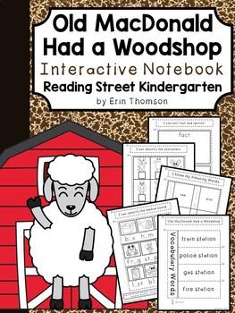 Old MacDonald Had a Woodshop Interactive Notebook ~ Reading Street Kindergarten