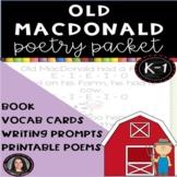 Old MacDonald Nursery Rhyme Poetry Packet