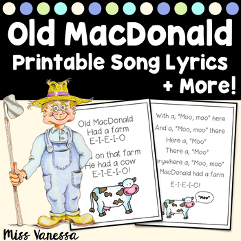 Old MacDonald Had A Farm ~ Fill-In-The-Blank Writing Activ