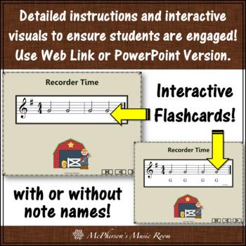 Old MacDonald - Recorder PowerPoint Visuals (Notes DEGAB)