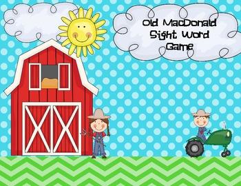 Old MacDonald Sight Word Game