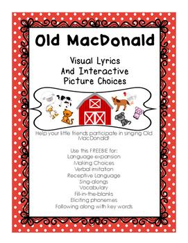 Old MacDonald Song - - Visual Lyrics & Interactive Picture