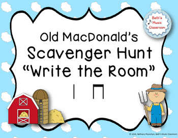 "Old MacDonald's Scavenger Hunt, ""Write the Room"" - Ta, ti-ti (Quarter/8th notes)"