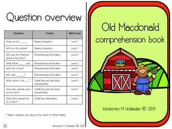 Old Macdonald Comprehension Book