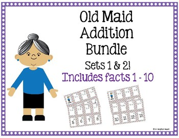 Old Maid Addition Bundle! (2 sets of playing cards)