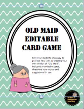 Old Maid Editable Card Game