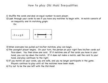 Old Maid Graphing Inequalities