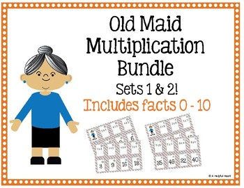 Old Maid Multiplication Bundle! (2 sets of playing cards)