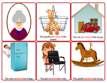 Old Maid-Prepositions Game
