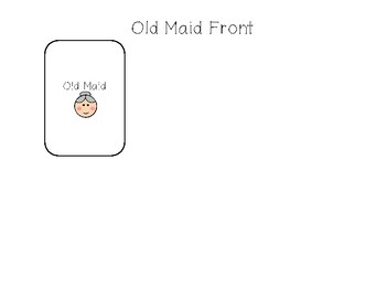 Old Maid Sight Word Game (Editable)