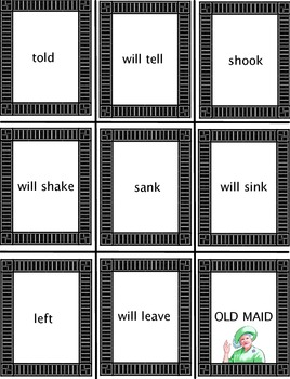 Old Maid Verb Tense Past Future