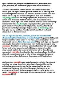 Old Major's Speech-- Rhetorical Analysis