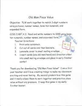 Old Man Place Value