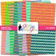 Summer Fun Chevron Paper | Scrapbook Backgrounds for Task Cards & Brag Tags
