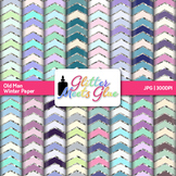 Old Man Winter Chevron Paper {Scrapbook Backgrounds for Ta