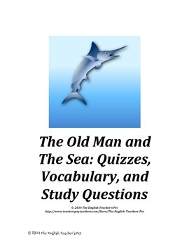 Old Man and The Sea Novel Unit Bundle