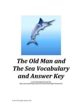 Old Man and the Sea Vocabulary and Answer Key