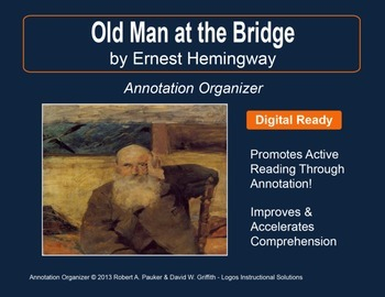 """Old Man at the Bridge"" by Ernest Hemingway: Annotation Organizer"