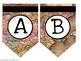 Old Map Bulletin Board Letters: Bunting/Pennet Style