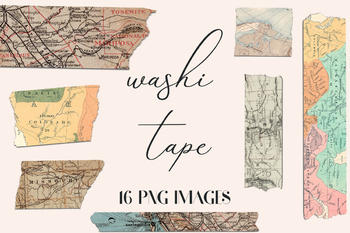 Old Map Washi Tape