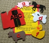Old McDonald Had An Alphabet Flannel Board Set