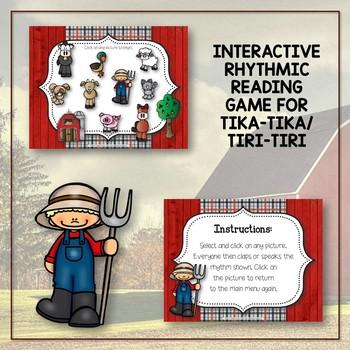 Old MacDonald Had a Rhythm Farm - Interactive Game to Practice Tika-tika