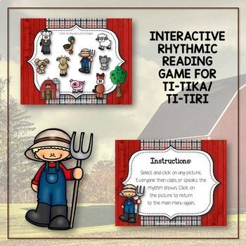 Old MacDonald Had a Rhythm Farm - Interactive Game to Practice Ti-tika
