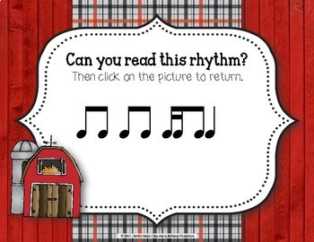Old MacDonald Had a Rhythm Farm - Interactive Game to Practice Tika-ti