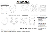 Old McDonald Worksheet and Lesson