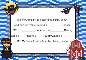 """Old McDonald had a Haunted Farm"" - An Adapted Traditional Song"