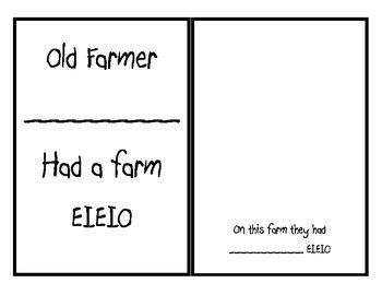 Old McDonald  had a farm mini book