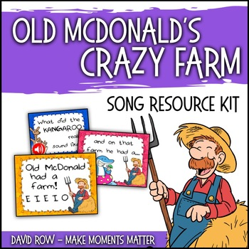 Old McDonald's CRAZY Farm!  Mix and Match Song with Real Animal Sounds