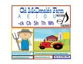Old McDonald's Farm Emergent  Reader             A E I O U