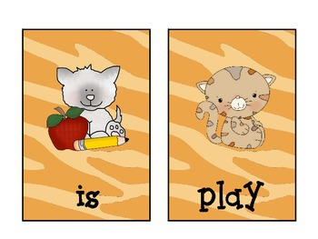 """Old 'Meow""""d: A Sight Word Game Focusing on Treasure's Kindergarten Sight Words"""