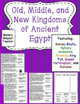 Old, Middle, and New Kingdoms of Ancient Egypt