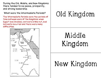 Old, Middle, and New Kingdoms of Ancient Egypt Foldable