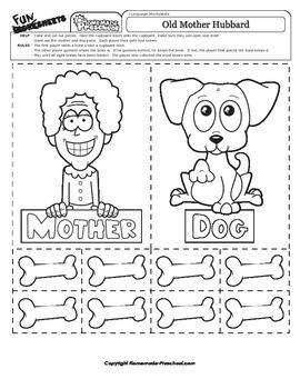 Old Mother Hubbard - Nursery Rhyme Activity