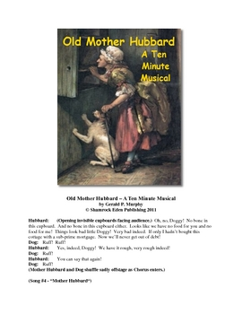 Old Mother Hubbard - A Ten Minute Musical