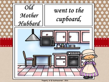 Old Mother Hubbard - Comic Strip Nursery Rhyme Story Telling - PPT Ed.