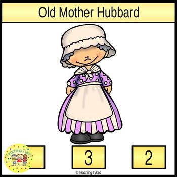 Old Mother Hubbard Clip Task Cards