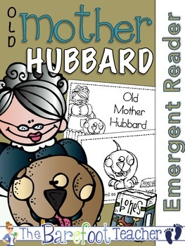 Old Mother Hubbard Nursery Rhyme Emergent Reader & Class Poster