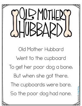Old Mother Hubbard-Interactive Nursery Rhyme