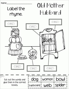 Old Mother Hubbard - Literacy & Math for Early Learners