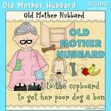 Old Mother Hubbard Nursery Rhyme Clip Art C Seslar