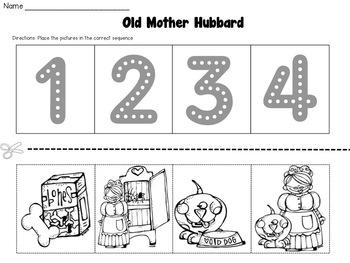 Old Mother Hubbard Nursery Rhyme Set