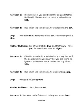 Old Mother Hubbard as Heard by the Dog - Rhyming Reader's Theater
