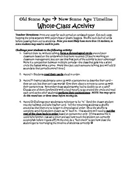 Old/New Stone Age Timeline - Whole Class Activity