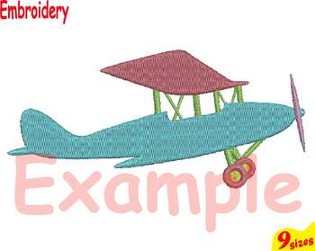 Old Plane Airplane Designs for Embroidery 4x4 5x7 hoop Science world war 115b