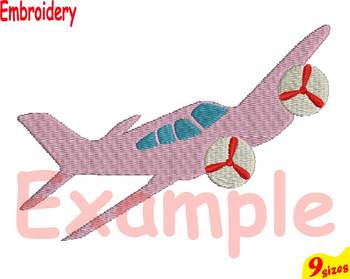 Old Planes Airplane Designs for Embroidery 4x4 5x7 hoop Science Biplane 110b