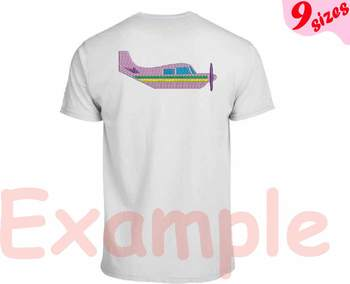 Old Planes Airplane Designs for Embroidery 4x4 5x7 hoop Science Biplane 117b